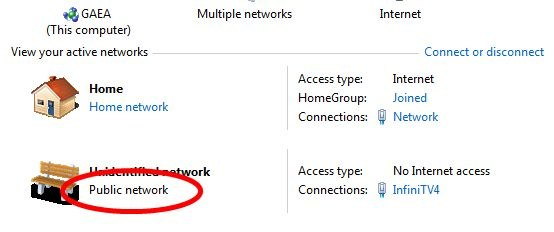 how to change from a public to private network