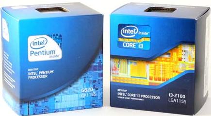 Core and Pentium Retail Boxes