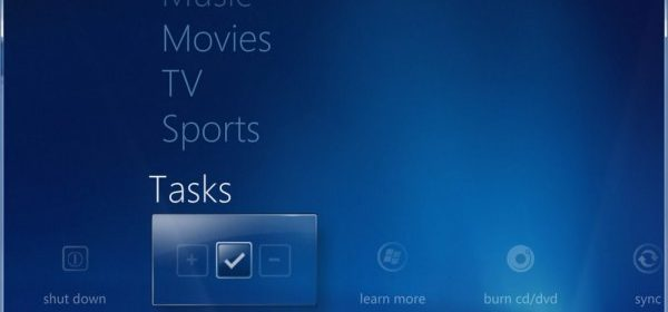 Windows Media Center Settings