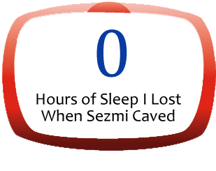0 Hours of Sleep Lost When Sezmi Caved
