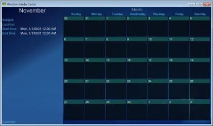 Media Center Calendars