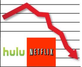 Netflix and Hulu Falling