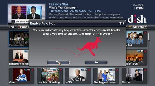 Dish Network's commercial-skipping feature AutoHop (Dish Network / May 24, 201
