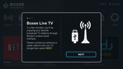 Boxee Live TV Screen