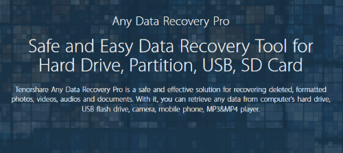 Tenorshare Any Data Recovery Pro