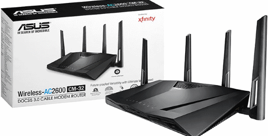 asus launches xfinity compatible cm 32 ac2600 cable modem. Black Bedroom Furniture Sets. Home Design Ideas