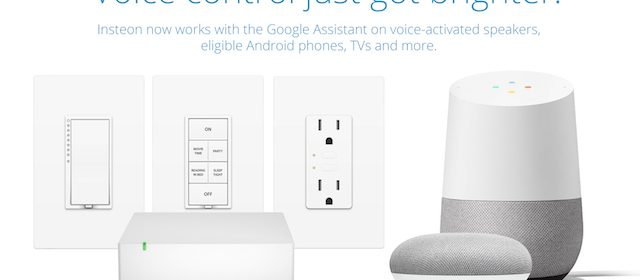 Insteon Now works with the Google Assistant