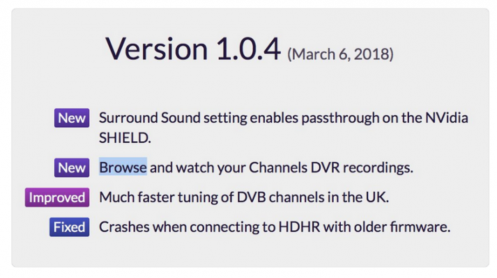 Channels App rolls out Version 1 0 4 for Android and Fire TV