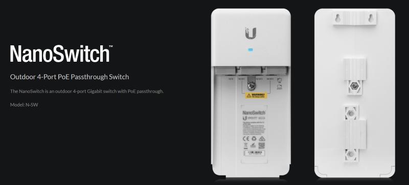 Ubiquiti Networks NanoSwitch (N-SW) Unmanaged Passive 24V